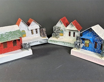 Putz Houses Made in Japan 50's Christmas Tree and Home Decor Vintage Handmade
