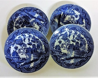 Blue Willow Toy Plates Made in Japan Porcelain Price is for 4 Plates No Chips or Cracks