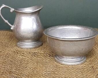 Armatale Sugar Bowl and Creamer by Wilton