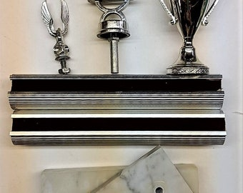 Silver Trophy Parts Vintage Bowling Trophy w/Marble Bases Trophy Cup Bowling Figure Eagle for Crafts