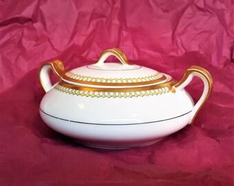 Haviland & Co Limoges Porcelain Sugar Bowl with Lid #30742