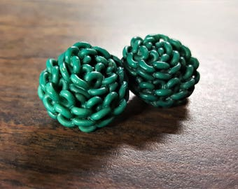 Vintage  Button Extruded Celluloid Turquoise Dressmakers Supply Button for Jewelry Retro Button