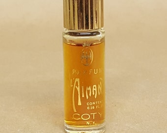 Coty L'Aimant Vintage Perfume 98% Full Bottle Coty N. Y. 0.16 Fluid Ounce