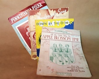 Vintage Sheet Music Andrew Sisters Early 20th Century Music Decor Collectible Music WW2 Memorabilia Family Time Singalong Music for Framing