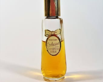 Perfume Exclusive Distributed by Delegar Rouse's Point, NY, Vintage Perfume Two Thirds Bottle