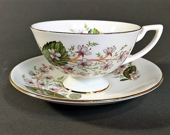 Free Shipping for Bone China Teacup and Saucer