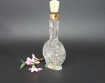 Lucien Lelong Vintage Collectible Beautiful Art Deco Glass Impromptu Cologne Bottle