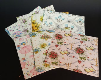 Vintage Gift Wrapping Paper Floral Wedding Fall Spring Baby Themed Paper for Vintage Crafts Paper Mache Mod Podge Scrapbooking