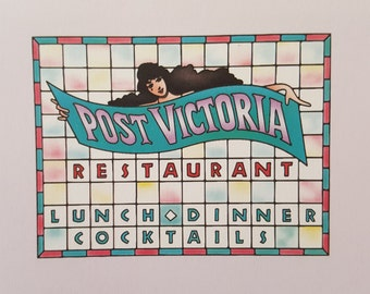 Vintage Waterford Connecticut Post Victoria Restaurant Menu Collectible for Crafts Display or Decor Free Shipping