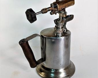 Vintage Blowtorch Tool Clayton and Lambert Vintage Shop Tool Metal Working Tool Brass and Heavy Metal Tool Plumbers Tool