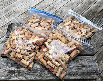 Wine Cork Supply 4 Gallon Bags Approximately 400 Real Corks with Some Synthetic Mixed In Cork Supply Craft Supply