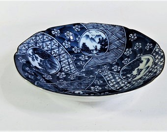 Chinoiserie Bowl by Takahashi Vintage Porcelain Beautifully Designed and Executed No Chips or Cracks