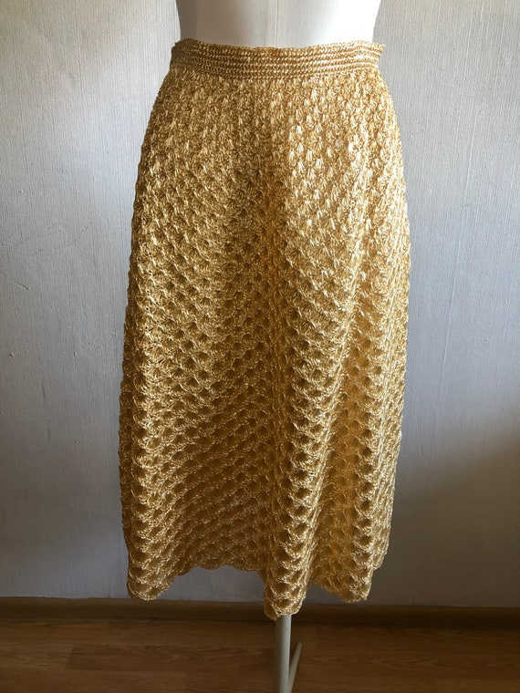 Vintage raffia skirt 1950s
