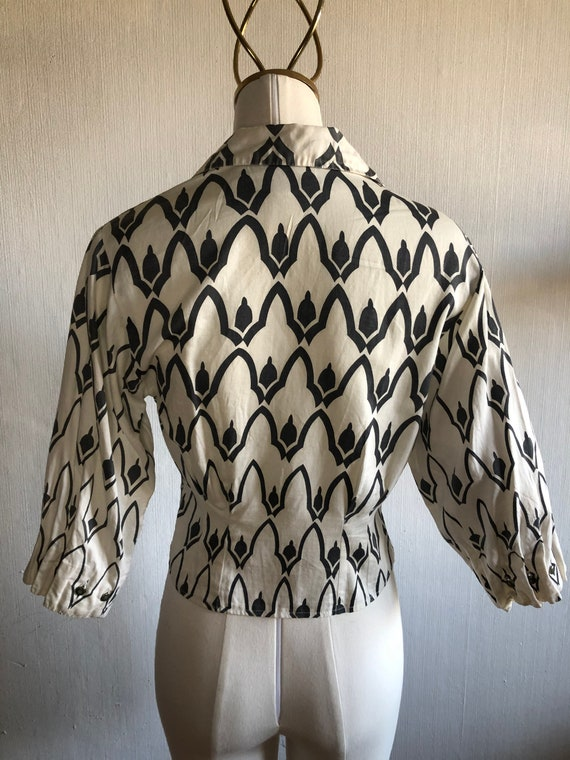 1950' 50's vintage abstract atomic print shirt - image 4