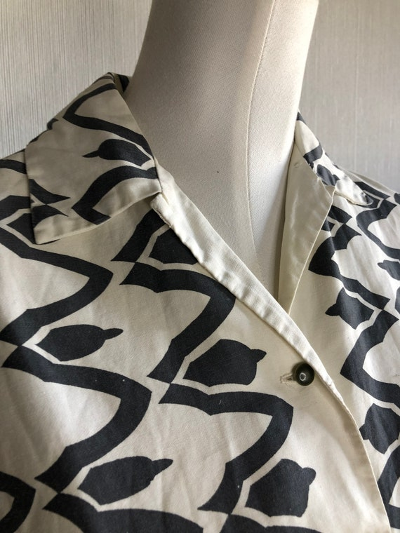 1950' 50's vintage abstract atomic print shirt