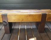 Contemporary Rustic Cedar Outdoor Bench