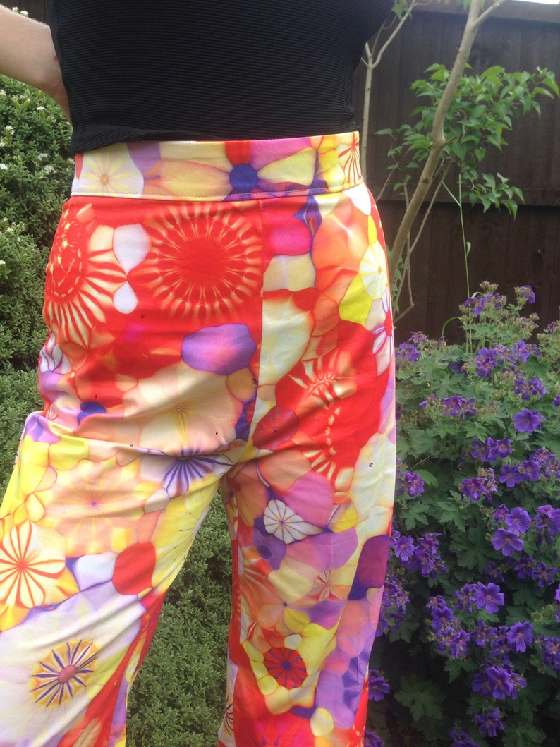 1960s Style Wide Leg Psychedelic Trousers