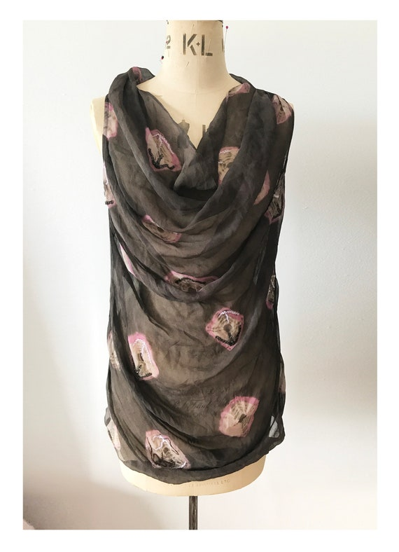 All Saints Silk Top with beading