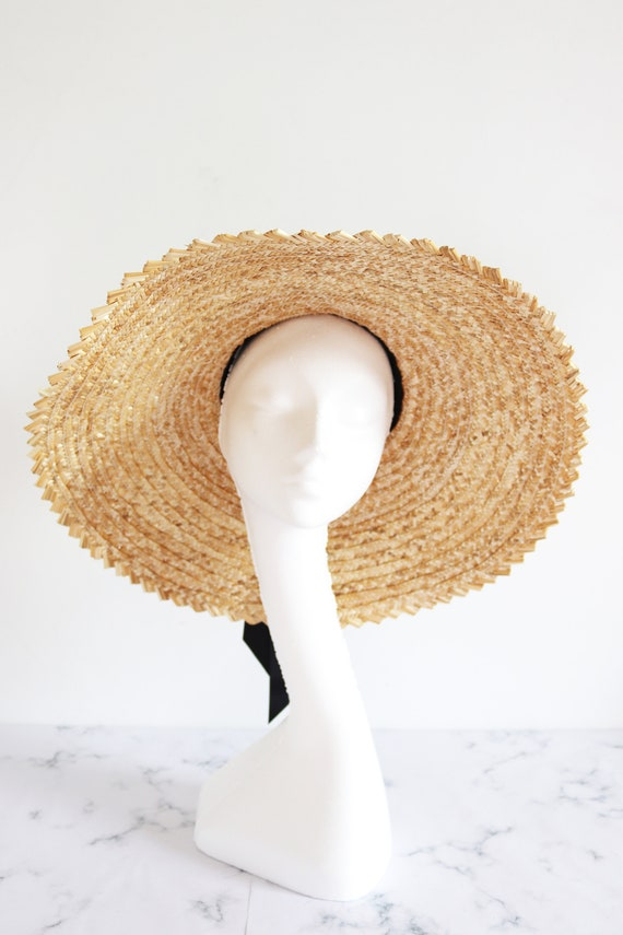 Over sized straw sun hat