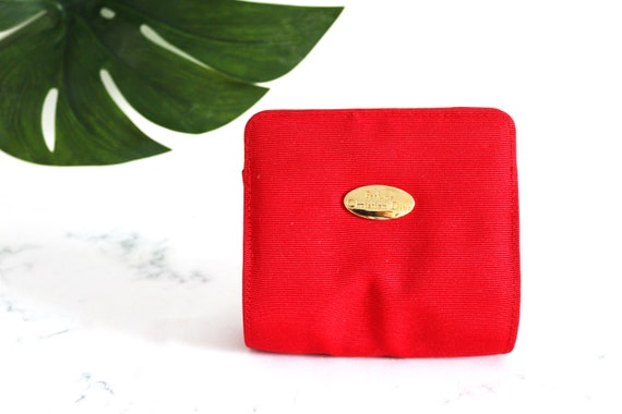 Authentic Red Christian Dior bag/ makeup bag