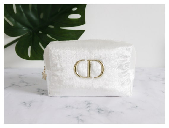 Authentic White Christian Dior bag/ makeup bag