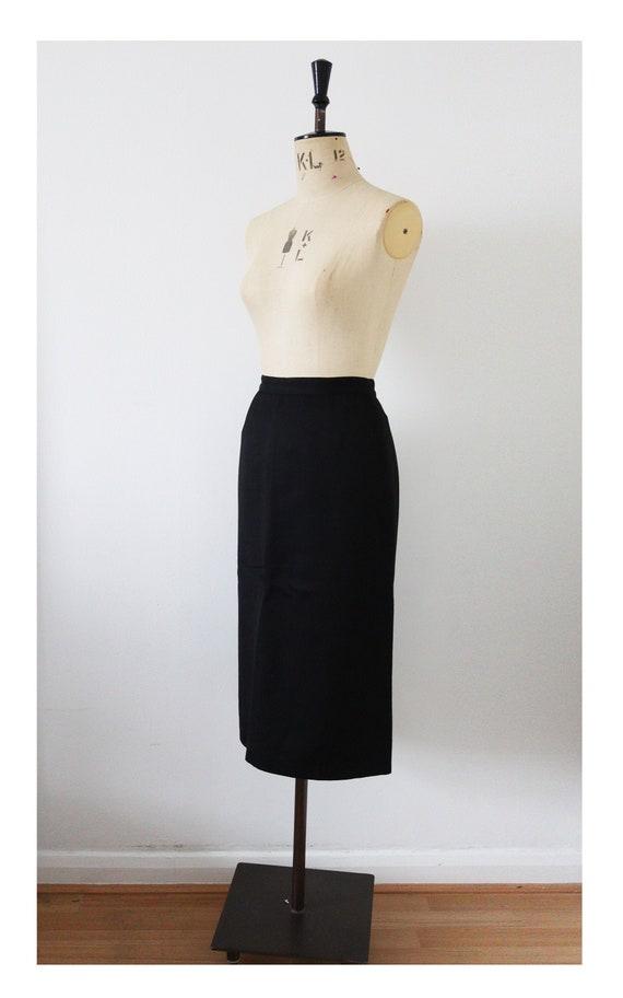 Classic black Cacharel pencil skirt