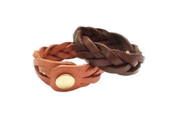 Kangaroo Leather Wrist Band with copper button