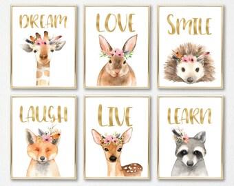 Nursery decor, Nursery wall art, Nursery animals, Baby animals, Baby wall art, Wildlife nursery, Animal prints, Nature nursery, Nursery art