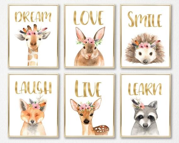 Kinderzimmer Kinderzimmer Kinderzimmer Tiere Tierbabys | Etsy
