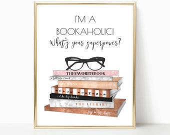 teen room decor, dorm room, book lover, book lover gift, art print, librarian gift, gift for her, bedroom decor, teenage girl gift, bookworm
