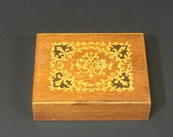 Vintage Octagonal Jewelry Trinket Box Mother of Pearl Home decor Collectible Repurpose  Memory Box Dresser Box