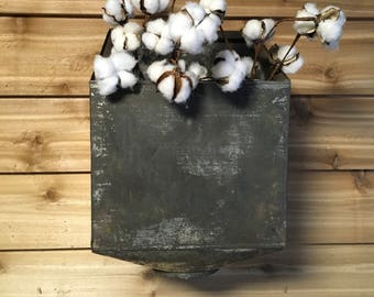 Vintage Hoosier Cabinet Flour Sifter Metal Farmhouse Decor Wall Repurpose  Salvaged Craft Cabin Country Antique Planter Vase