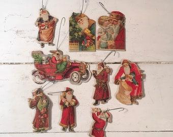 Cardboard Santa Etsy