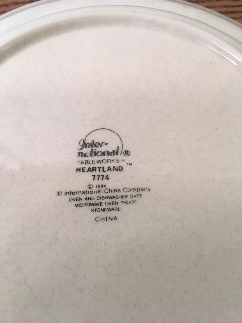 Vintage plate international stoneware heartland tableworks china 7774 replacement dinner retro decor