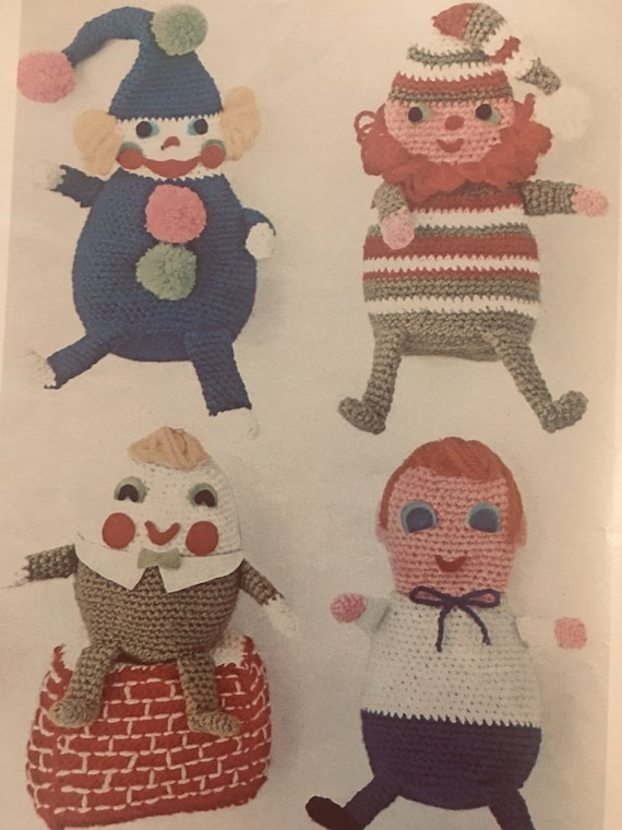 Remarkable Vintage Crochet Bean Bag Toys Pattern Digital File Printout Inzonedesignstudio Interior Chair Design Inzonedesignstudiocom