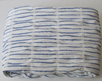 Blue/White Stripe Cotton Poly Craft Fabric