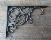 8.5 inch Victorian Scroll Cast Iron Shelf Bracket Vintage Rustic Style, Antique Style Custom Orders Welcome