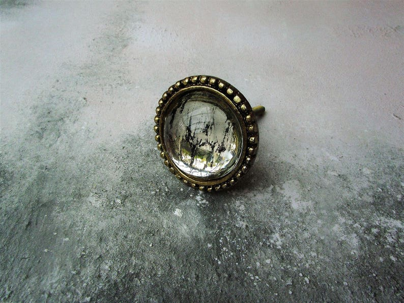 Antique style mercury silver glass furniture door  drawer pull handle KNOB