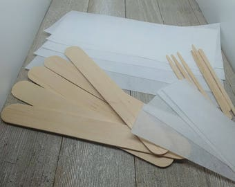 Waxing Supply | Sugar Waxing Package Tool | Hair Removal Spatula | Hair Removal Strip | Wax Strip | BeautifulAuraLLC