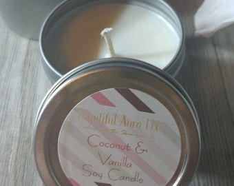 Choose your Scent Soy Candle  | 2 oz Mini Soy Candle | Scented Soy Candle | Handmade | BeautifulAuraLLC
