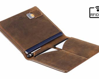Luxury RFID Leather Passport Holder / Travel Wallet - Raw Tan - A-SLIM - Hoshi - Passport Cover - Passport Wallet - Travel Holder