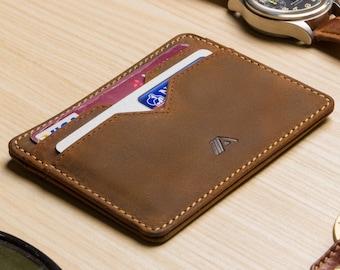 Slim Leather Card Holder / Leather Credit Card Wallet / Leather Card Holder Wallet / Minimalist Wallet / Leather Credit Cardholder - Yaiba