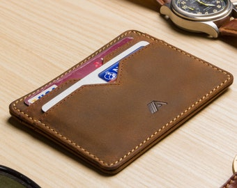 e11876aa5c4a Slim Leather Card Holder - Leather Card Wallet - Minimalist Wallet - Card  Case - Slim Wallet For Men - Small Bank Card Holder - A-SLIM Yaiba