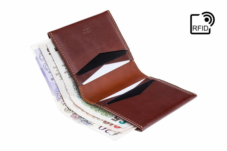 226d3df829 Anti RFID Brown Leather Billfold Wallet For Men - Card and Note Wallet -  Slim Wallets For Men - A-SLIM Machete Wallet - Brown and Tan Wallet