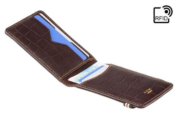 Portefeuille pour Hommes en PU avec RFID bloquant Un Porte-Cartes de cr/édit avec Porte-Cartes de cr/édit avec Poche /à Monnaie zipp/ée pour Hommes(Z-8)