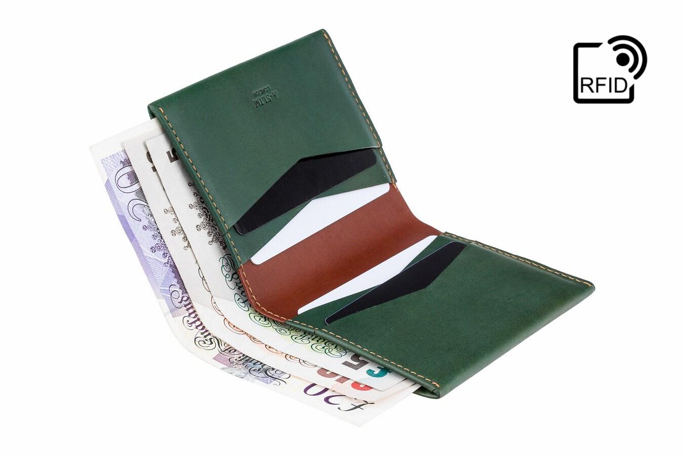 4ef663e315a Green RFID Blocking Wallet For Gents Man Wallet Slim | Etsy