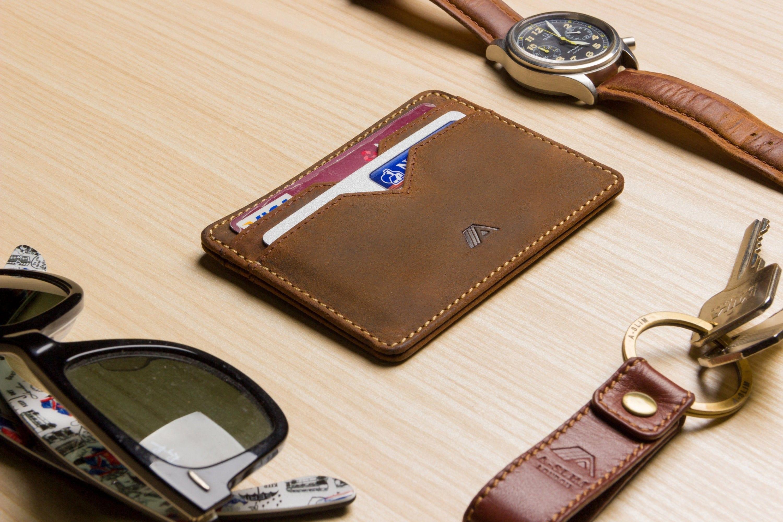 Portacarte in pelle - Portafoglio carta di credito - Portafoglio minimalista - Portafogli Slim per gli uomini - A-SLIM Yaiba - Piccolo Portafoglio [Miglior Venditore]
