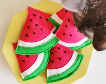 Watermelon Cute Cat Toy Organic Catnip Toy Birthday Cat Gift for Cat Lover Gift Unique Cat Toy Organic Cat Toy Fruit Cat Toy Crazy Cat Lady