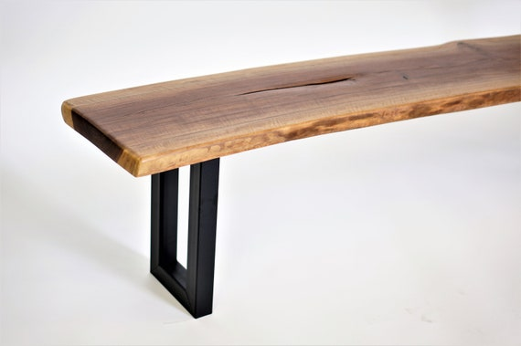 Super Black Walnut Live Edge Bench Seat I Living Edge Bench Seat I Hallway Bench Entry Way Bench W Custom Crate Gmtry Best Dining Table And Chair Ideas Images Gmtryco