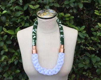 H A L É   Knit braid necklace